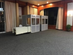 interpreter booth for conference interpretation system